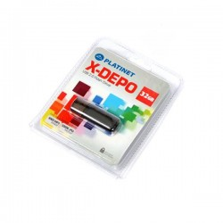 PLATINET USB 2.0 X-DEPO  Flash Disk 32GB μαύρο PMFE32